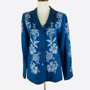 Victor Costa boho embroidered blazer